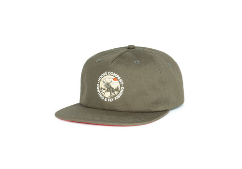 Hooké Moose Strap Back Dark Olive
