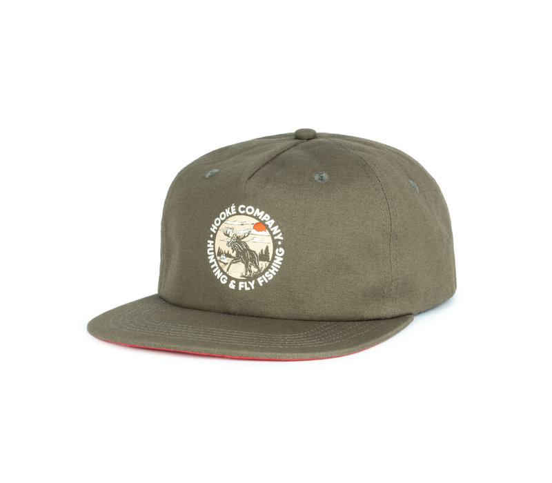 Moose Strap Back Dark Olive