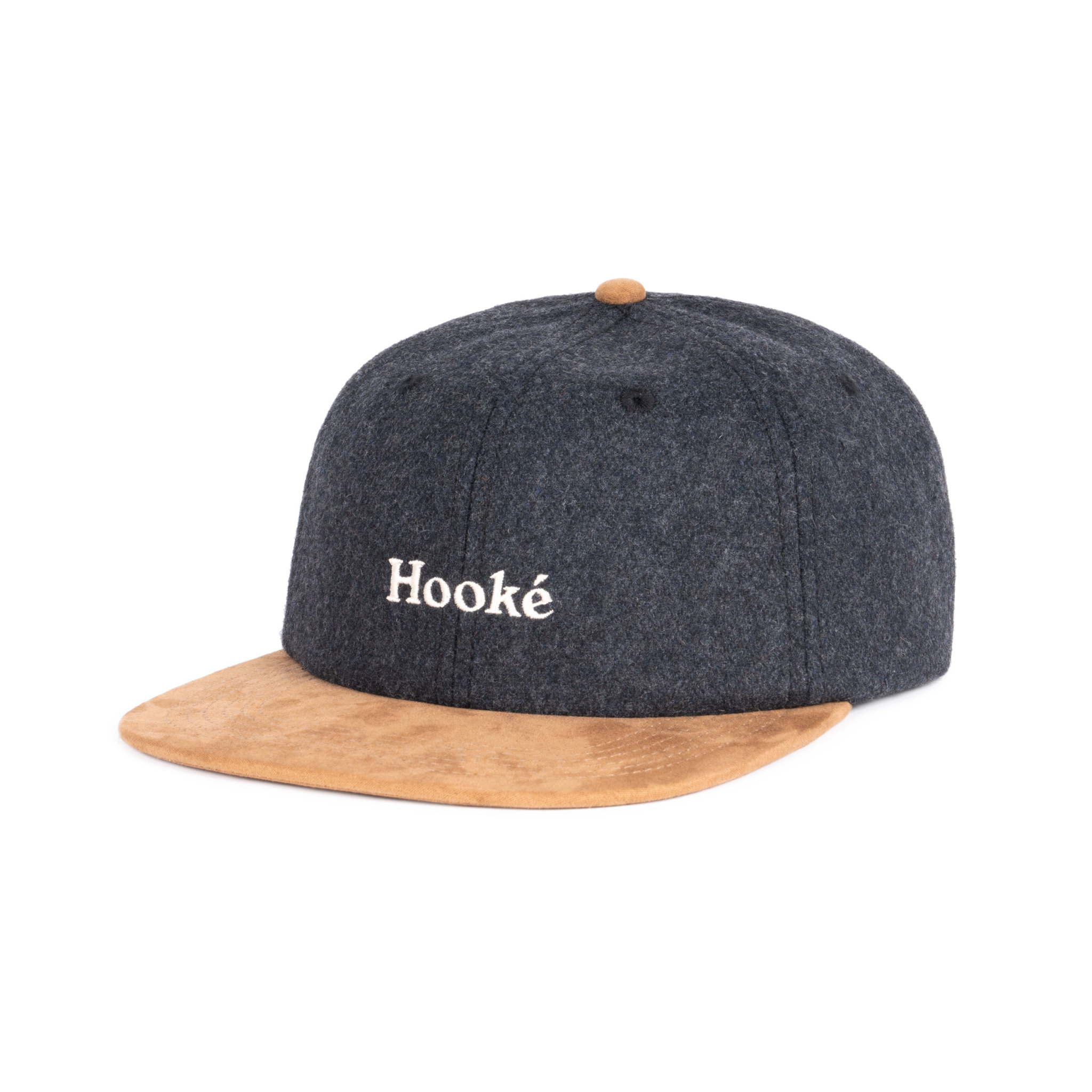 Hooké Wool Strap Back Charcoal