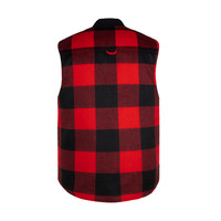 Reversible Hunting Vest Red & Black Plaid