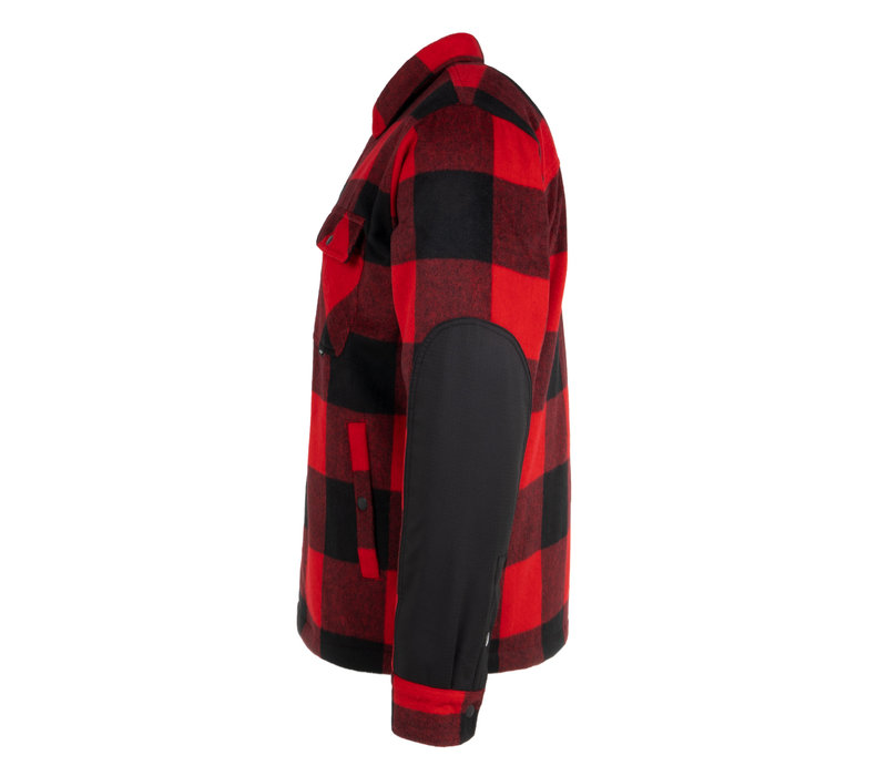 Chemise Canadienne en Laine Rouge & Noire