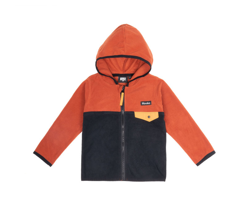 Kangaroo Zip Fleece Orange