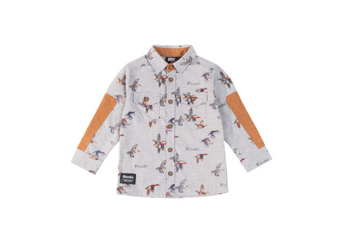 Hooké Duck Print Shirt Grey