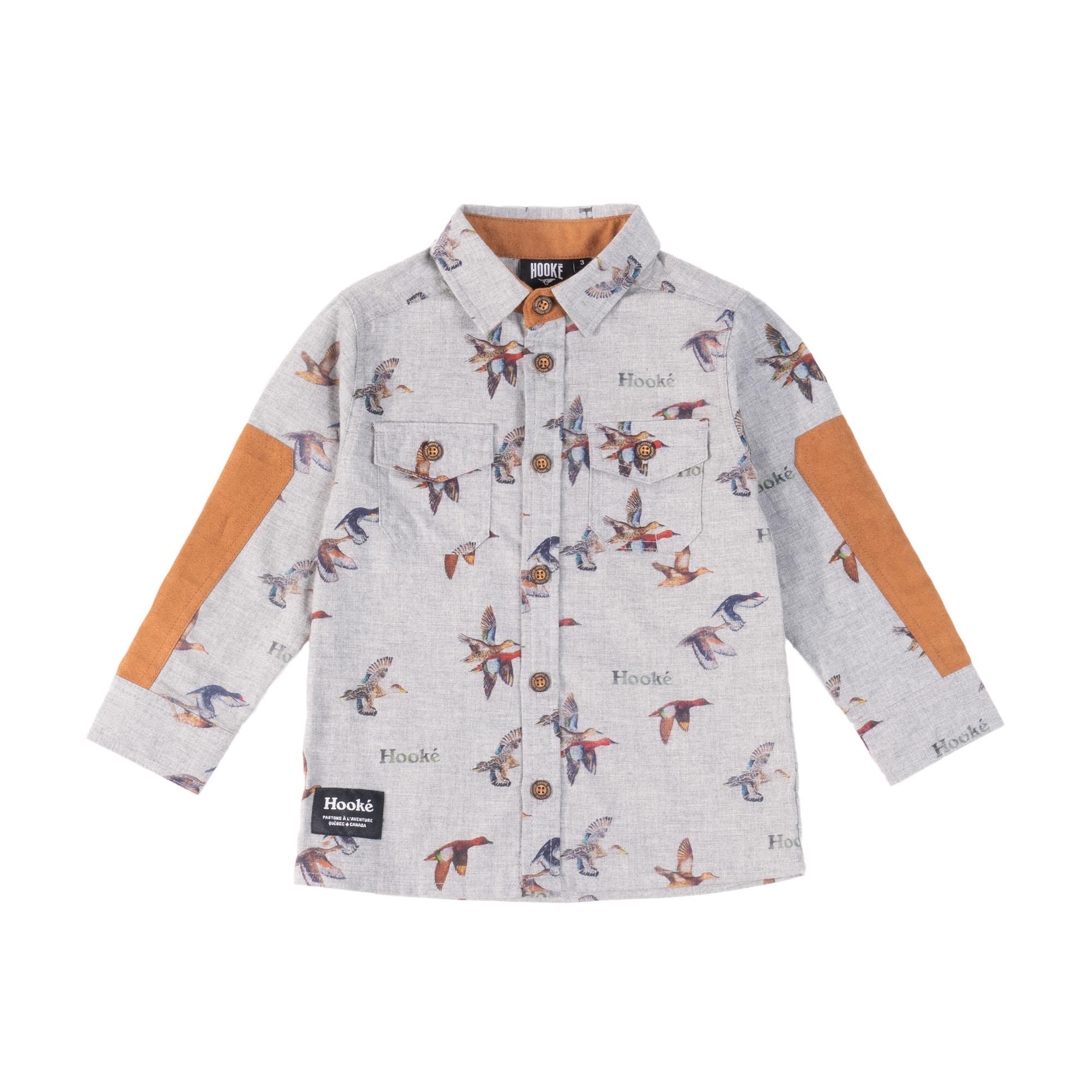Duck Print Shirt Grey
