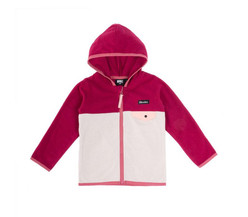 Kangaroo Zip Fleece Pink