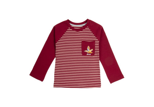 Hooké Striped Raglan Pink