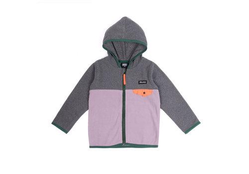 Hooké Purple Kangaroo Zip Fleece