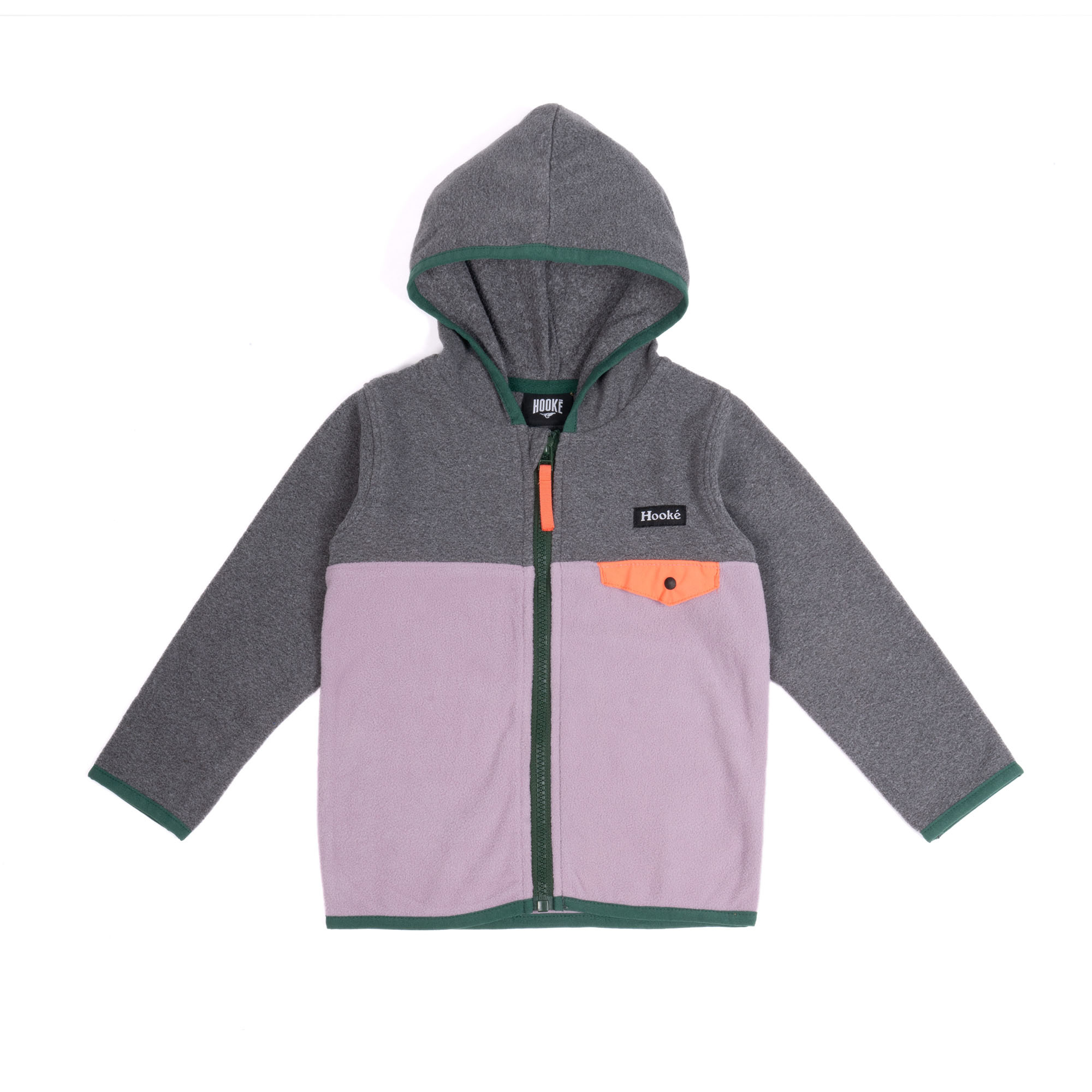 Purple Kangaroo Zip Fleece