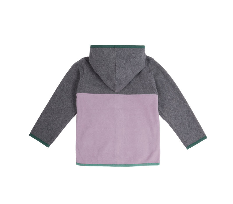 Kangourou Polar Zip Violet