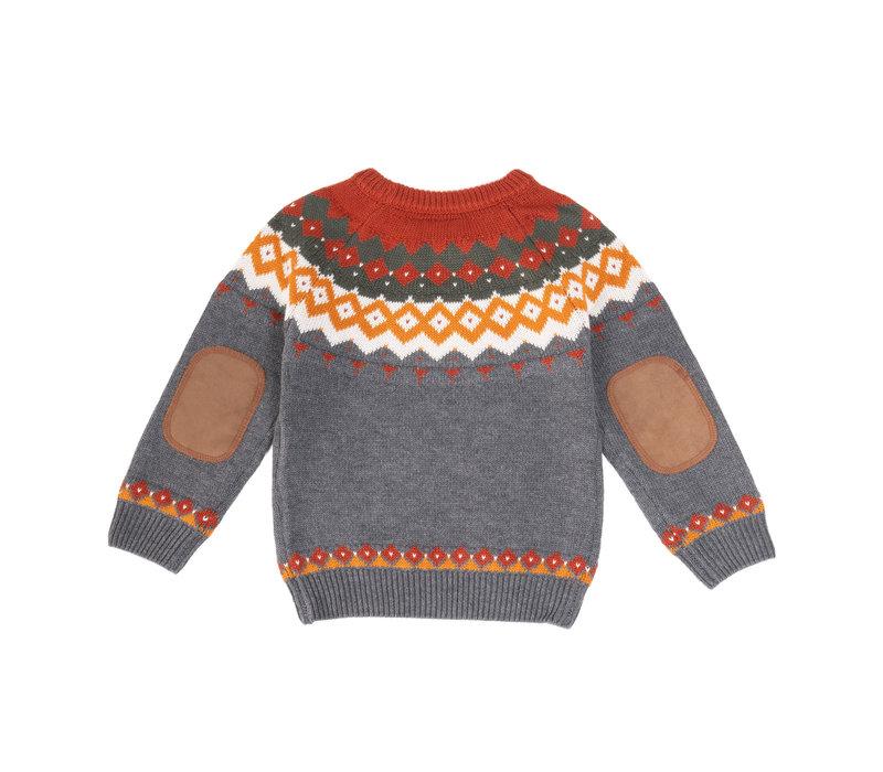 Gilet Hooké tricoté Charbon