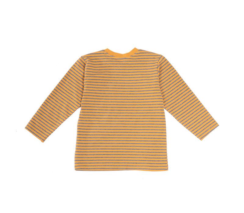 Striped Raglan Yellow