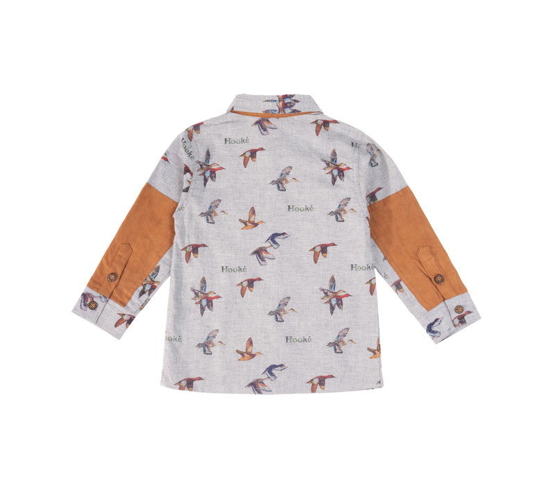 Duck Print Shirt Grey