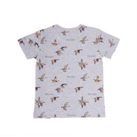 Duck Print T-Shirt Grey