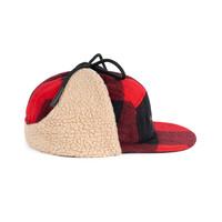 Hooké Ear Flap Camper Hat Red & Black