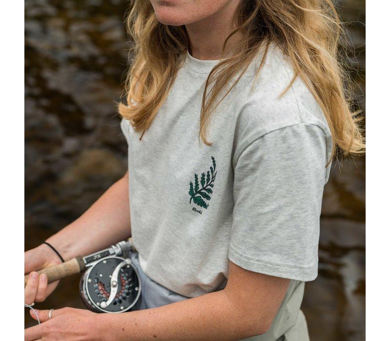 T-Shirt Foliage pour Femme Oatmeal