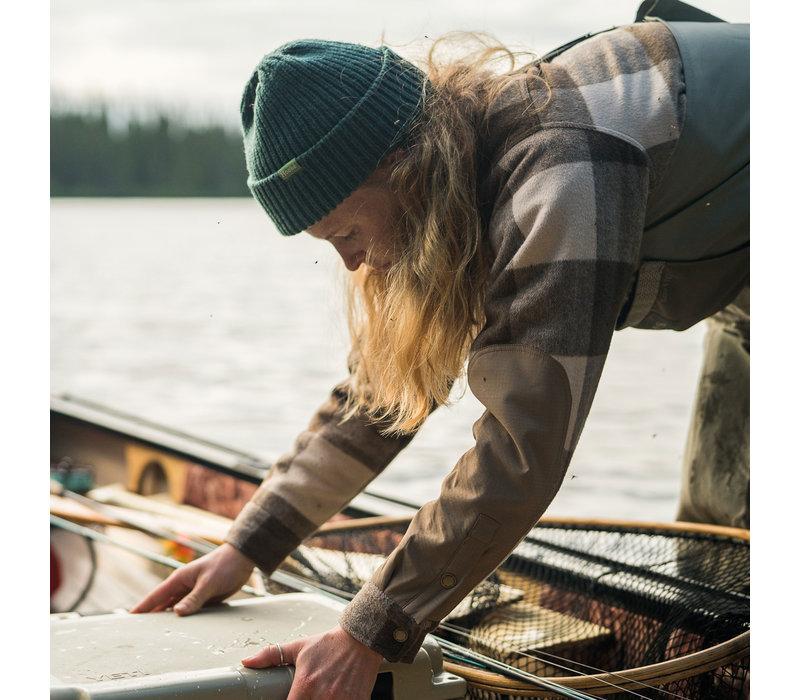 Women's Trapper Wool Shirt Beige & Brown