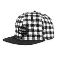 Plaid cap gray for kids