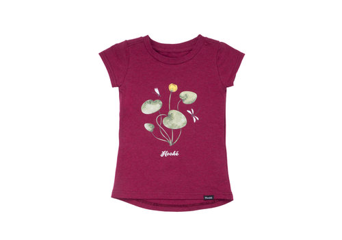 T-Shirt Nénuphar Bordeaux