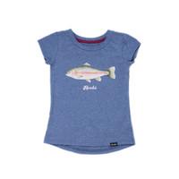 T-Shirt Truite Arc-en-ciel Bleu Acier