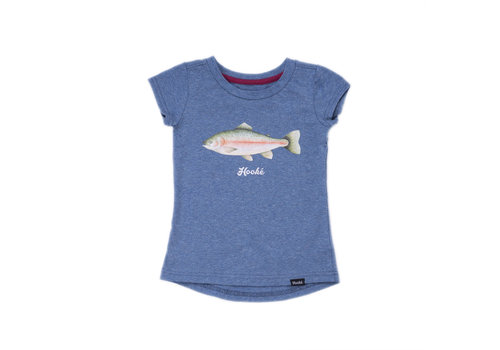 Rainbow Trout T-Shirt Steel Blue