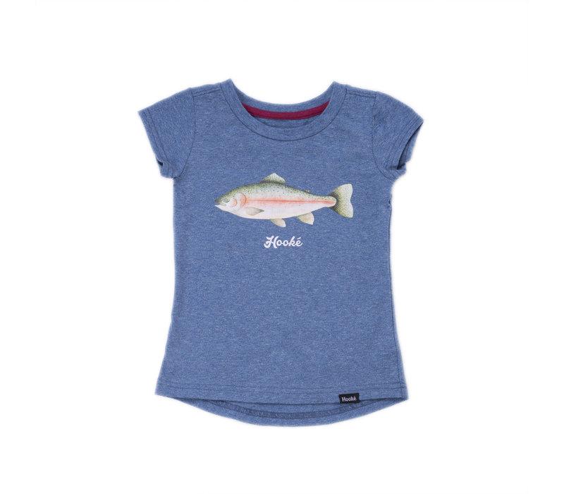 Rainbow Trout T-Shirt Steel Blue