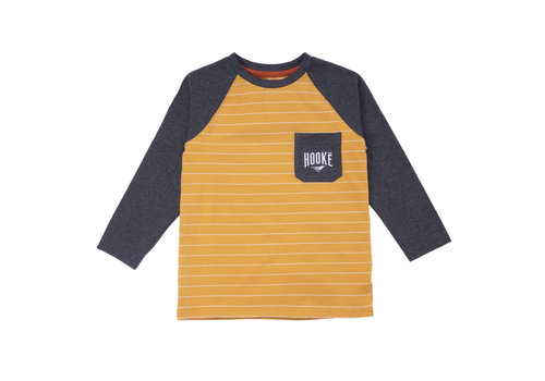 Camping Striped Raglan Ochre