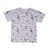T-Shirt Multi Poissons Gris Mix