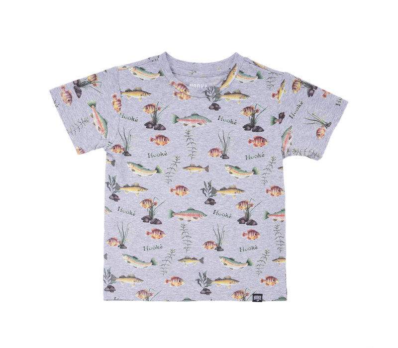Multi Fishes T-Shirt Grey Mix