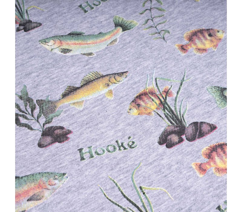 Multi Fishes Diaper Cover Grey Mix