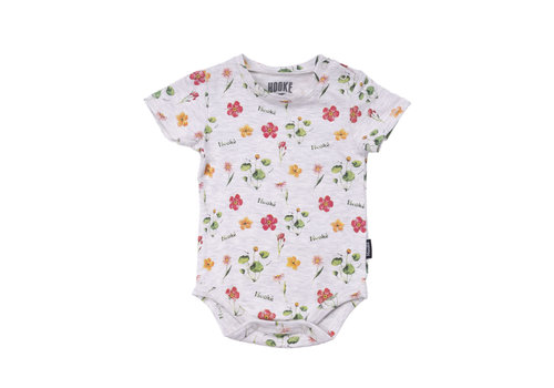Wild Flowers Diaper Cover Ivory