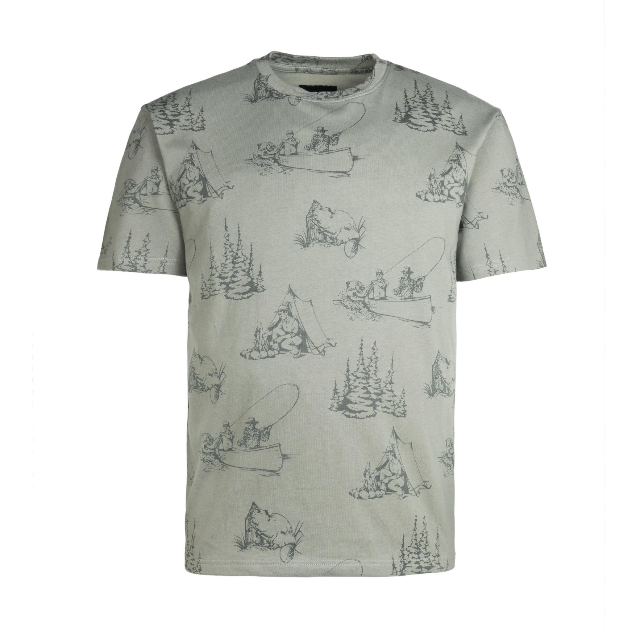 T-Shirt du Castor Gris Roche