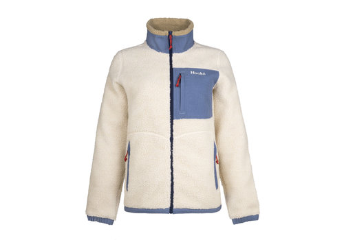 Veste en Sherpa Arctique Crème & Denim Bleu