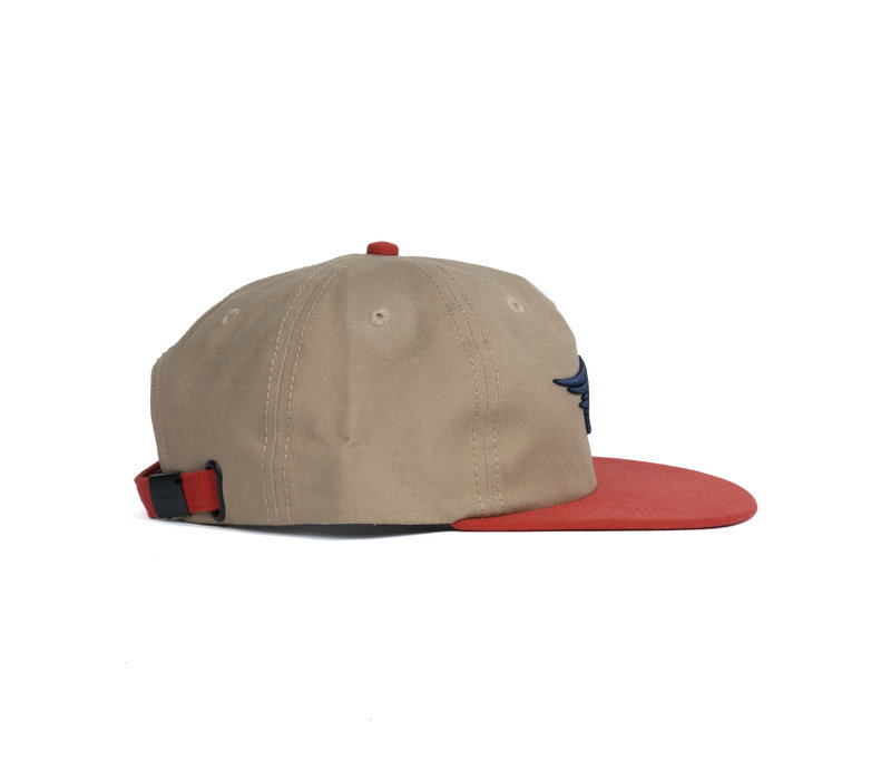Fly Strap Back Cap Tan & Red Clay
