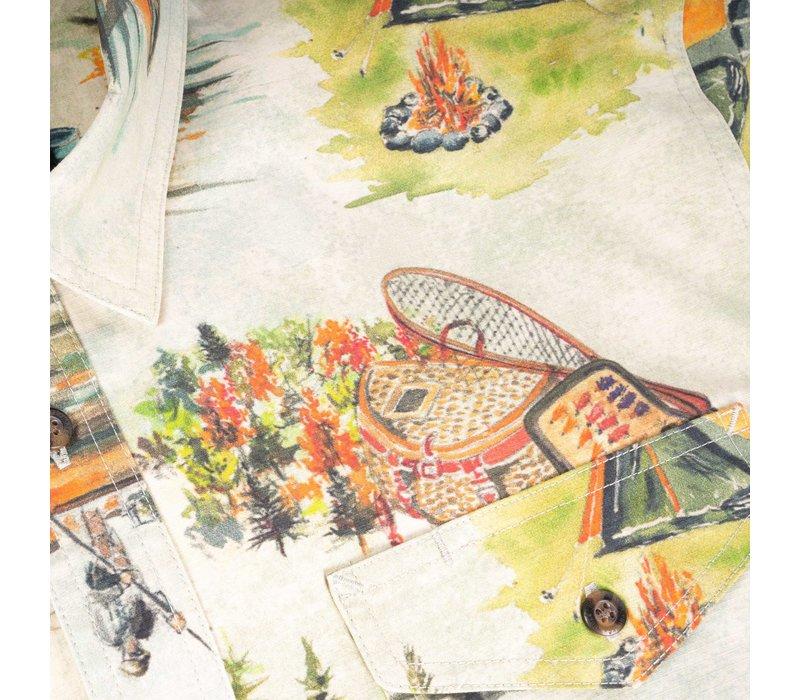 Camp Vibes Short Sleeves Shirt Sandshell