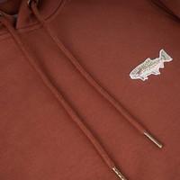 Hoodie Truite Arc-en-ciel Rouge Brique pour femme