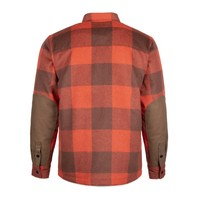 Canadian Wool Shirt Red Clay & Camel