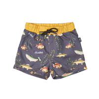 Swimsuit Shorts Fish Charcoal