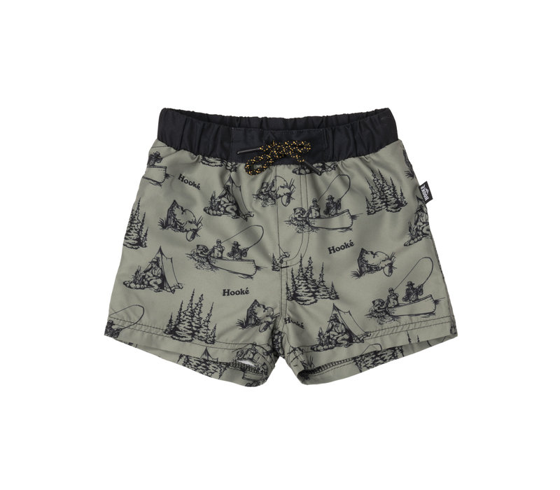 Swimsuit Shorts Camping Olive