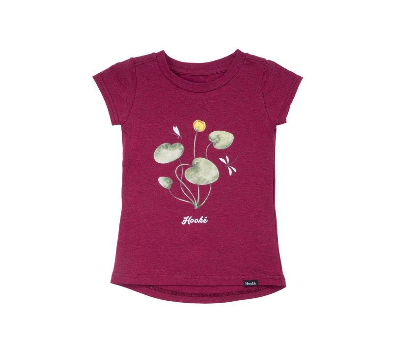 T-Shirt Nénuphar Bordeaux