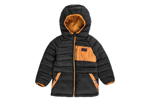 Hooké Insulated Hood Jacket Black & Yellow