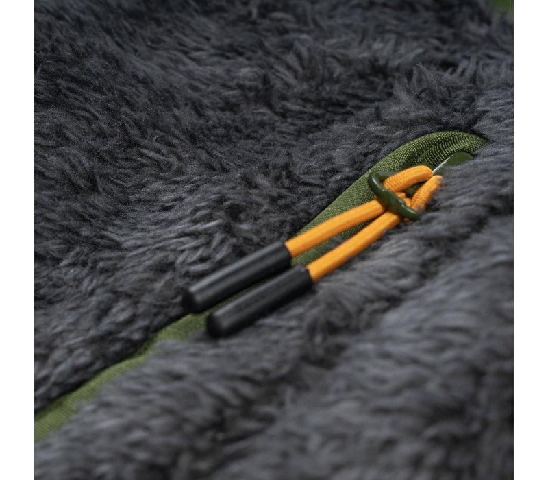 Arctic Bear Fleece Vest Charcoal