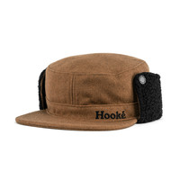 Flat Top Earflap Wool Cap