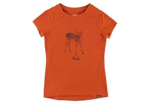 Hooké Deer T-Shirt Orange for kids
