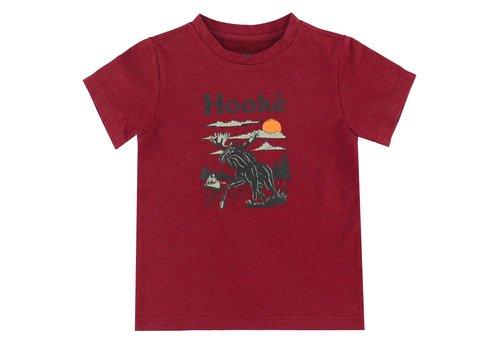 Hooké Moose T-Shirt Burgundy for kids