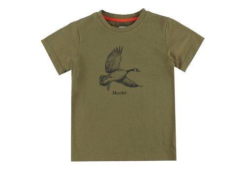 Hooké Goose T-Shirt Olive for kids