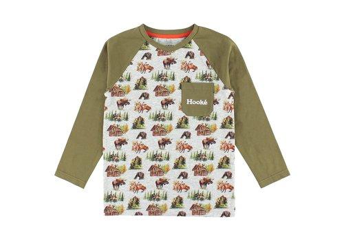 Hooké Woodland Raglan T-Shirt Olive