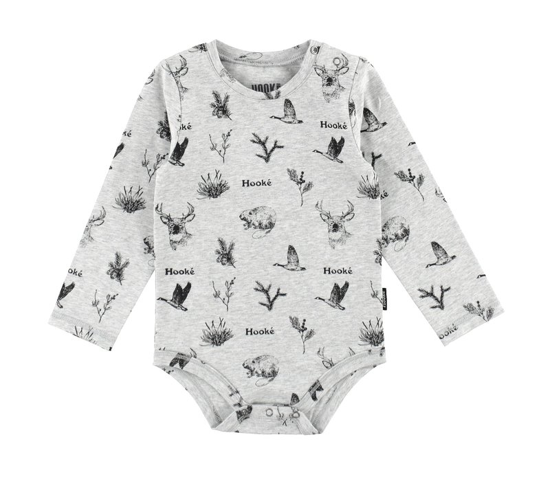 Cache-couche animaux sauvages gris