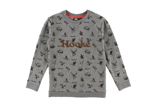 Hooké Wild Animals Crewneck Grey Mix