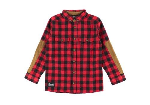 Hooké Canadian Flanel Shirt Red & Black for kids