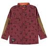 Hooké Wild Animals Shirt Bordeaux for kids